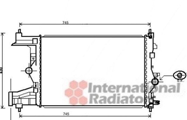Radiateur, refroidissement du moteur - VAN WEZEL - 37002484