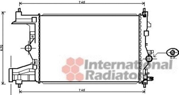 Radiateur, refroidissement du moteur - VAN WEZEL - 37002485