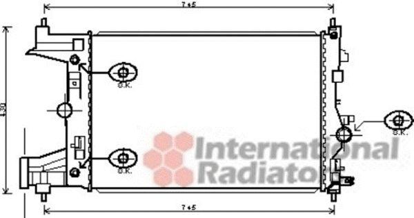 Radiateur, refroidissement du moteur - VAN WEZEL - 37002486