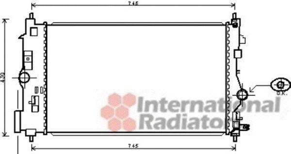 Radiateur, refroidissement du moteur - VAN WEZEL - 37002488