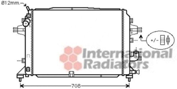 Radiateur, refroidissement du moteur - VAN WEZEL - 37002489