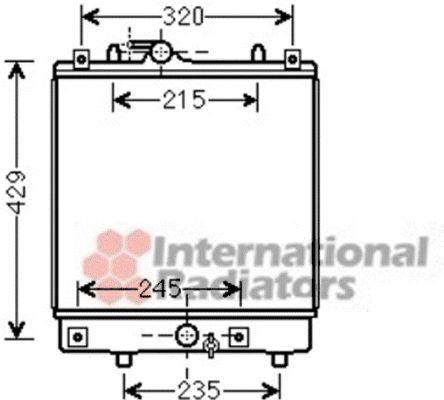 Radiateur, refroidissement du moteur - VAN WEZEL - 37002542