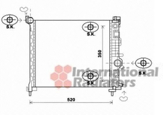 Radiateur, refroidissement du moteur - VAN WEZEL - 37002567