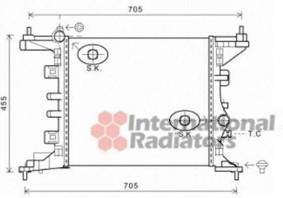 Radiateur, refroidissement du moteur - VAN WEZEL - 37002568