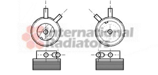 Radiateur d'huile - VAN WEZEL - 37003215