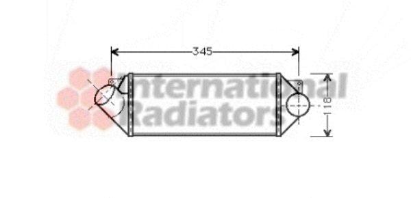 Intercooler, échangeur - VAN WEZEL - 37004235