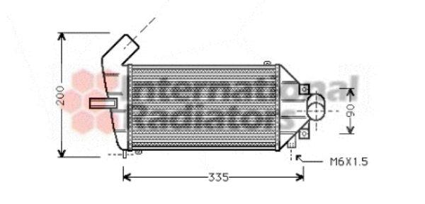 Intercooler, échangeur - VAN WEZEL - 37004262
