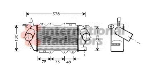 Intercooler, échangeur - VAN WEZEL - 37004269