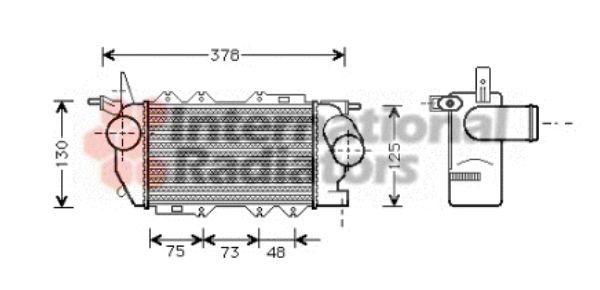 Intercooler, échangeur - VAN WEZEL - 37004270