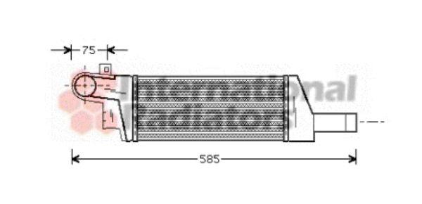 Intercooler, échangeur - VAN WEZEL - 37004322