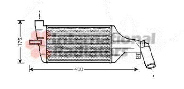 Intercooler, échangeur - VAN WEZEL - 37004325