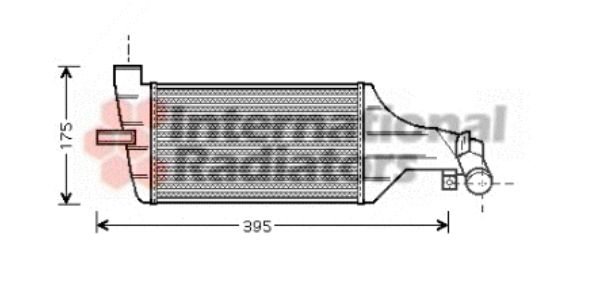 Intercooler, échangeur - VAN WEZEL - 37004374