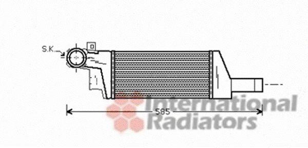 Intercooler, échangeur - VAN WEZEL - 37004404