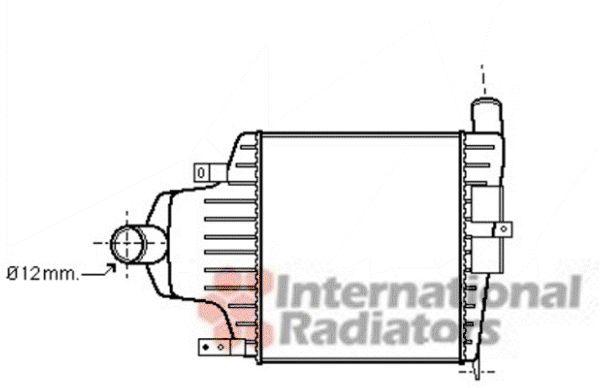 Intercooler, échangeur - VAN WEZEL - 37004415
