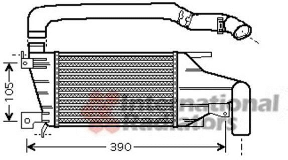 Intercooler, échangeur - VAN WEZEL - 37004417