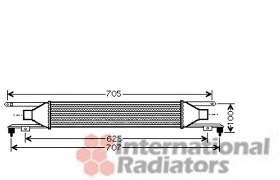 Intercooler, échangeur - VAN WEZEL - 37004421