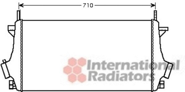 Intercooler, échangeur - VAN WEZEL - 37004476