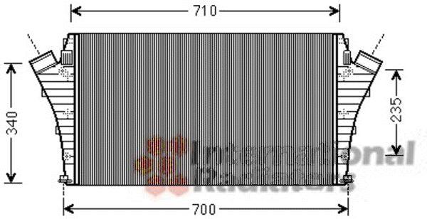 Intercooler, échangeur - VAN WEZEL - 37004491