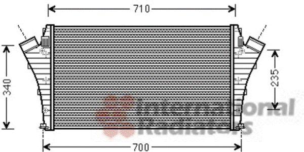 Intercooler, échangeur - VAN WEZEL - 37004492