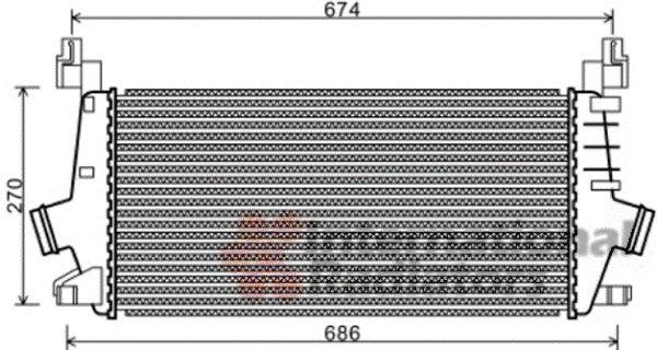 Intercooler, échangeur - VWA - 88VWA37004548