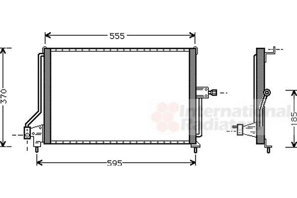 Condenseur, climatisation - VAN WEZEL - 37005209