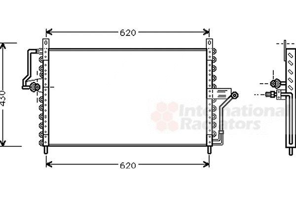 Condenseur, climatisation - VAN WEZEL - 37005223