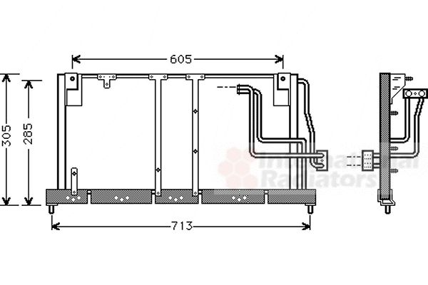 Condenseur, climatisation - VAN WEZEL - 37005225