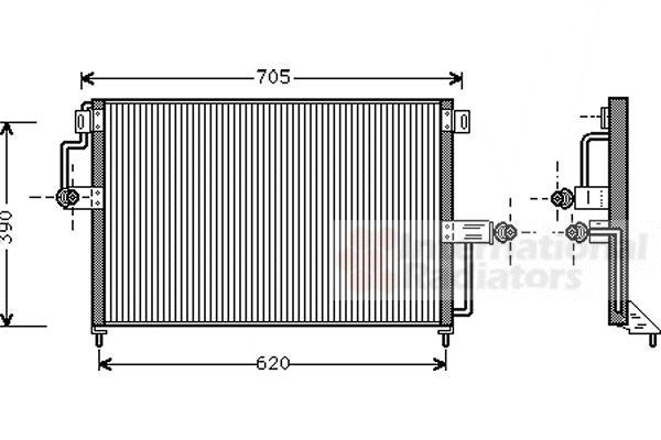 Condenseur, climatisation - VAN WEZEL - 37005227