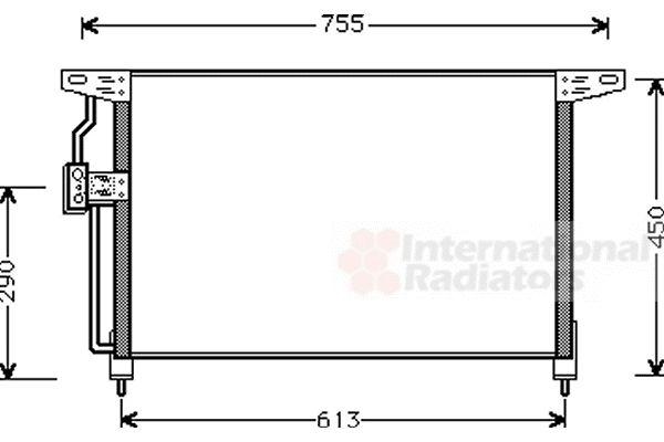 Condenseur, climatisation - VAN WEZEL - 37005228