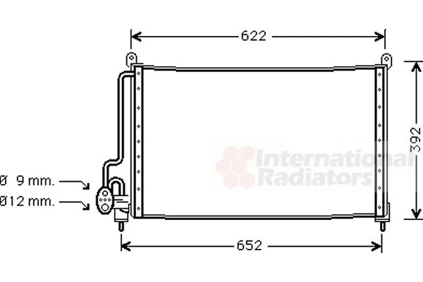 Condenseur, climatisation - VAN WEZEL - 37005229