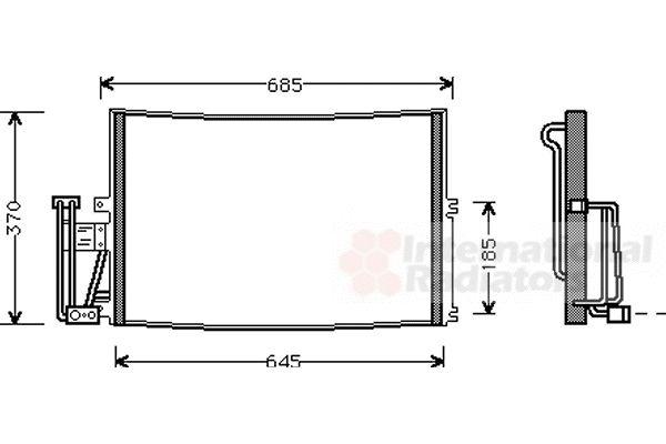 Condenseur, climatisation - VAN WEZEL - 37005241