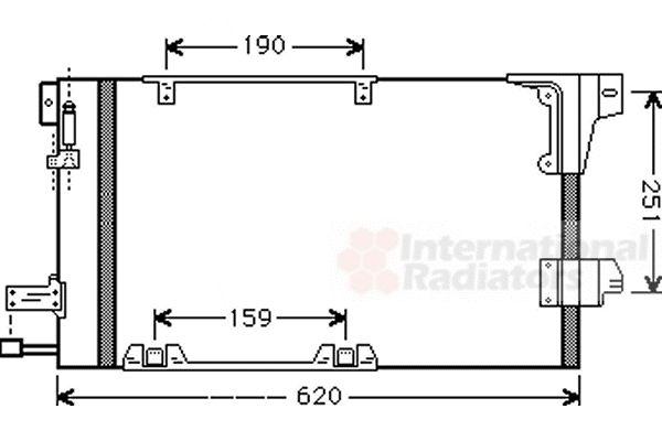 Condenseur, climatisation - VAN WEZEL - 37005251