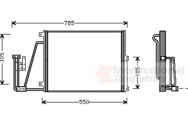 Condenseur, climatisation - VAN WEZEL - 37005265