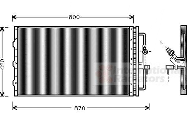 Condenseur, climatisation - VAN WEZEL - 37005267