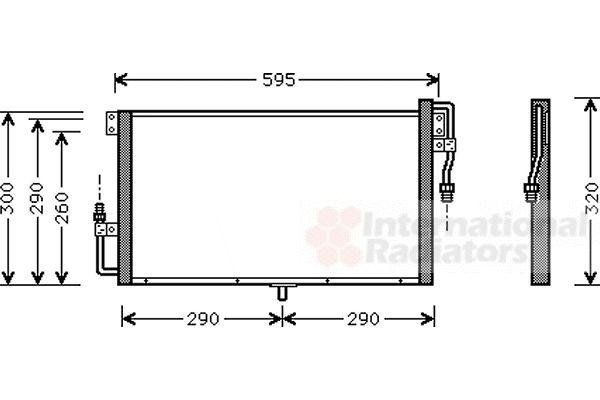 Condenseur, climatisation - VAN WEZEL - 37005268