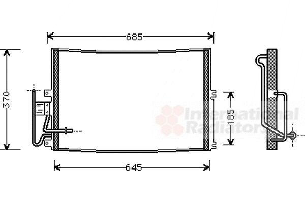 Condenseur, climatisation - VAN WEZEL - 37005274