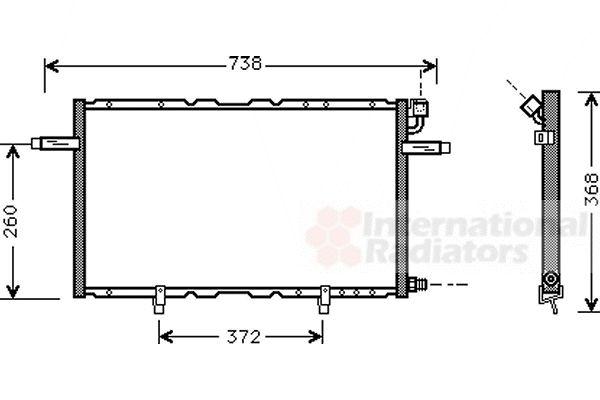 Condenseur, climatisation - VAN WEZEL - 37005297