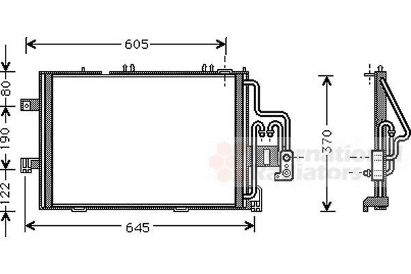 Condenseur, climatisation - VAN WEZEL - 37005307