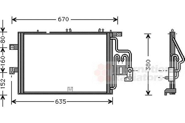 Condenseur, climatisation - VAN WEZEL - 37005309
