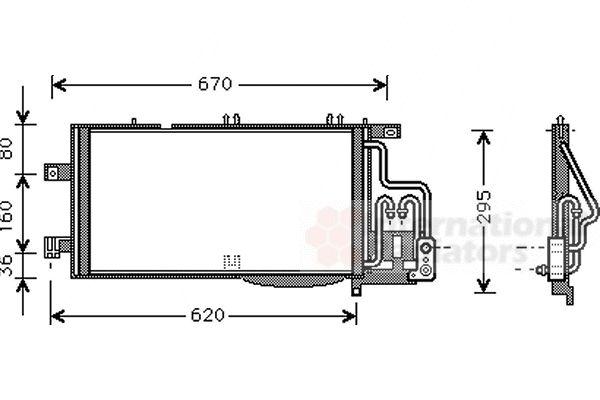 Condenseur, climatisation - VAN WEZEL - 37005310