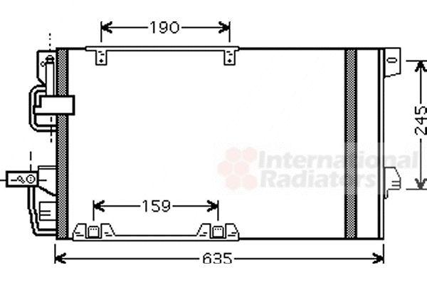 Condenseur, climatisation - VAN WEZEL - 37005326