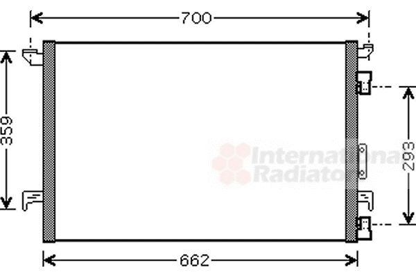 Condenseur, climatisation - VAN WEZEL - 37005333