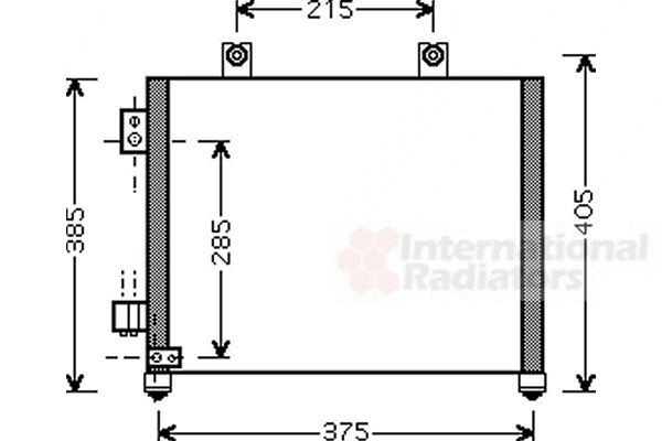 Condenseur, climatisation - VAN WEZEL - 37005342