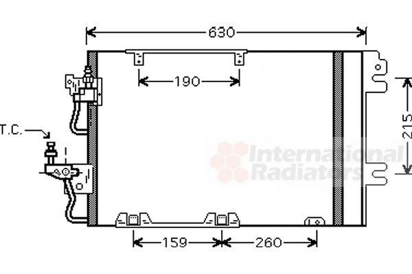 Condenseur, climatisation - VAN WEZEL - 37005367