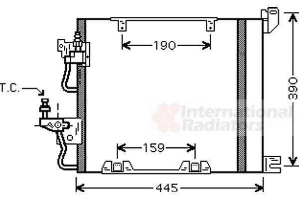 Condenseur, climatisation - VAN WEZEL - 37005368