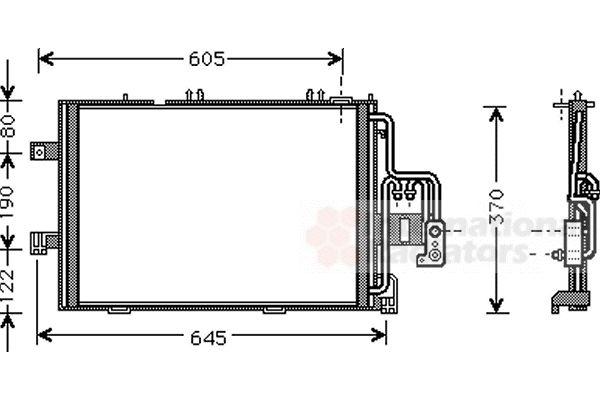 Condenseur, climatisation - VAN WEZEL - 37005369