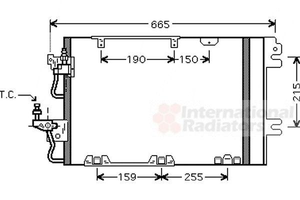 Condenseur, climatisation - VAN WEZEL - 37005384