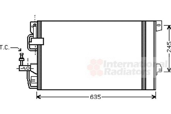 Condenseur, climatisation - VAN WEZEL - 37005390