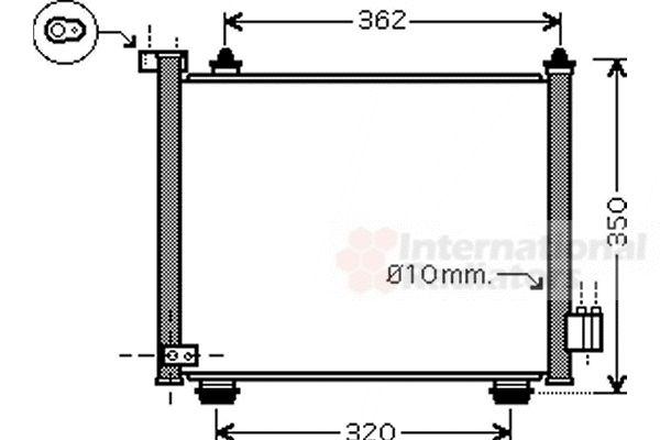 Condenseur, climatisation - VAN WEZEL - 37005402