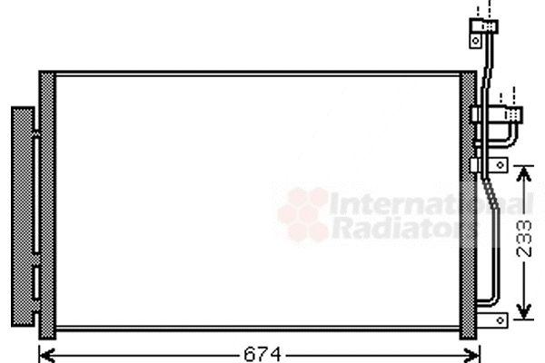 Condenseur, climatisation - VAN WEZEL - 37005433